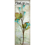 Petaloo - Canterbury Collection - Trumpet Vine Spray - Teal