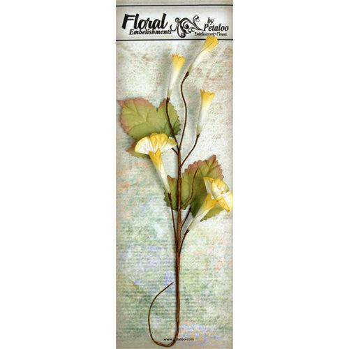 Petaloo - Canterbury Collection - Trumpet Vine Spray - Yellow