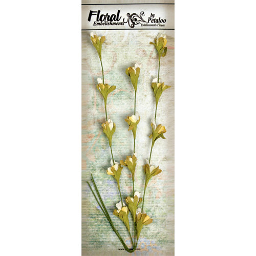 Petaloo - Canterbury Collection - Honeysuckle Vine - White