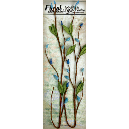 Petaloo - Canterbury Collection - Willow Vine - Blue