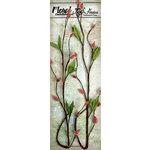 Petaloo - Canterbury Collection - Willow Vine - Scarlet