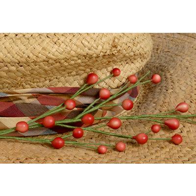 Petaloo - Canterbury Collection - Berry Spray - Red