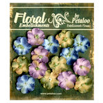 Petaloo - Canterbury Collection - Floral Embellishments - Forget Me Nots - Blue Amethyst and Sage