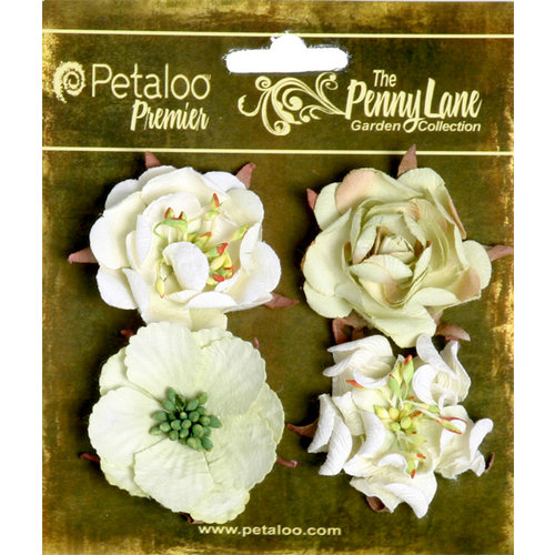 Petaloo - Penny Lane Collection - Floral Embellishments - Ruffled Roses - Mint