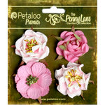 Petaloo - Penny Lane Collection - Floral Embellishments - Ruffled Roses - Pink