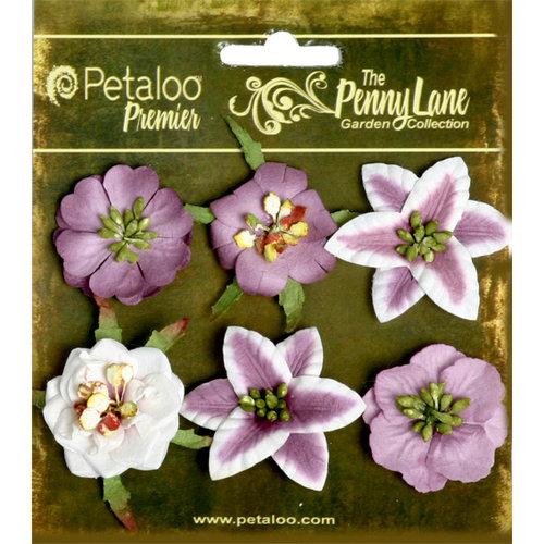 Petaloo - Penny Lane Collection - Floral Embellishments - Small Flower - Plum