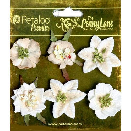 Petaloo - Penny Lane Collection - Floral Embellishments - Small Flower - Vanilla
