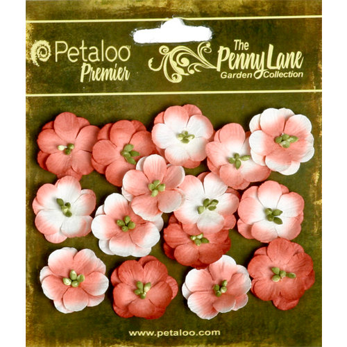 Petaloo - Penny Lane Collection - Floral Embellishments - Forget Me Nots - Paprika