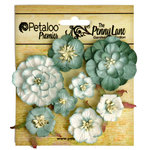 Petaloo - Penny Lane Collection - Floral Embellishments - Mixed Blossoms - Sea Green