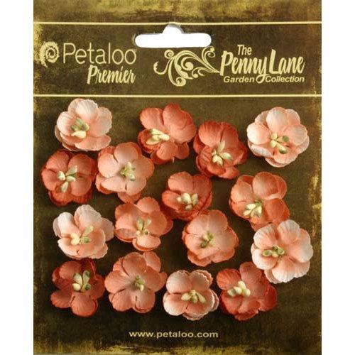 Petaloo - Penny Lane Collection - Floral Embellishments - Forget Me Nots - Antique Peach