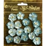 Petaloo - Penny Lane Collection - Floral Embellishments - Forget Me Nots - Robin Egg Blue