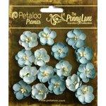 Petaloo - Penny Lane Collection - Floral Embellishments - Forget Me Nots - Robin Egg Blue