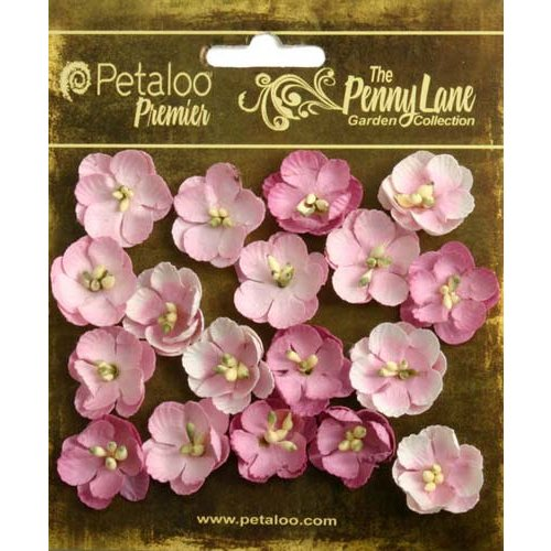 Petaloo - Penny Lane Collection - Floral Embellishments - Forget Me Nots - Soft Pink