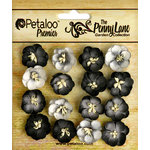 Petaloo - Penny Lane Collection - Floral Embellishments - Forget me Nots - Black