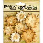 Petaloo - Penny Lane Collection - Floral Embellishments - Mini Wild Roses - Antique Gold