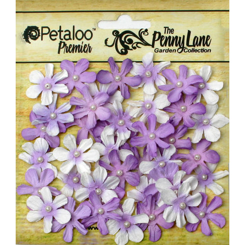 Petaloo - Penny Lane Collection - Floral Embellishments - Mini Daisy Petites - Soft Lavender