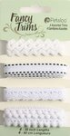 Petaloo - Flora Doodles Collection - Fancy Trims - White