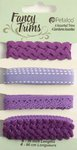Petaloo - Flora Doodles Collection - Fancy Trims - Purple