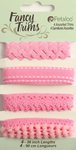 Petaloo - Flora Doodles Collection - Fancy Trims - Pink