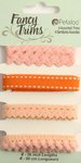 Petaloo - Flora Doodles Collection - Fancy Trims - Peach