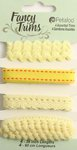 Petaloo - Flora Doodles Collection - Fancy Trims - Yellow