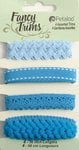 Petaloo - Flora Doodles Collection - Fancy Trims - Blue