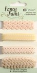 Petaloo - Flora Doodles Collection - Fancy Trims - Taupe