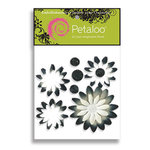 Petaloo - Pink Poodle Collection - Flowers - Double Delight Peel and Stick - 4 Flowers - White, CLEARANCE