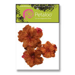 Petaloo - Retro Rage Collection - Flowers - Peony Peel and Stick - 3 Flowers - Brown