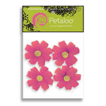 Petaloo - Tutti Fruitti Collection - Flowers - Wild Daisies With Glitter Peel and Stick - 4 Flowers - Dark Pink, CLEARANCE