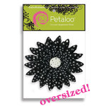 Petaloo - Flowers - Giant Daisies Peel and Stick - 1 Flower - Black With White Dots, CLEARANCE