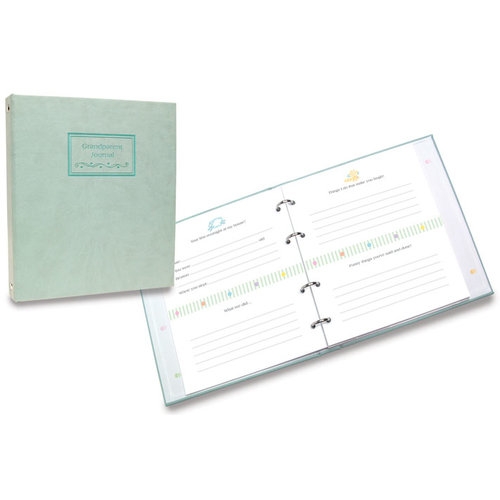 Penny Laine Papers - Leather 4 Ring Photo Journal - Grandparents