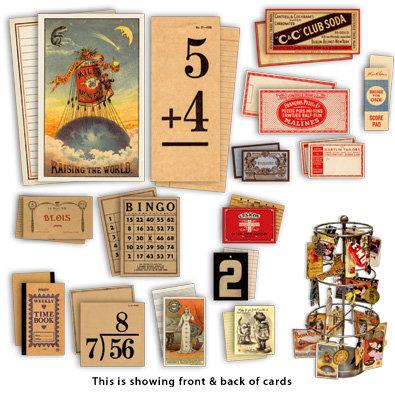 7 Gypsies - Double Sided Ephemera Cards - Ancienne