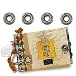 7 Gypsies - Metal Reinforcers - Antique Silver