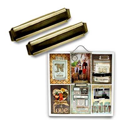 7 Gypsies - Printer Tray Label Holder - Antique Brass