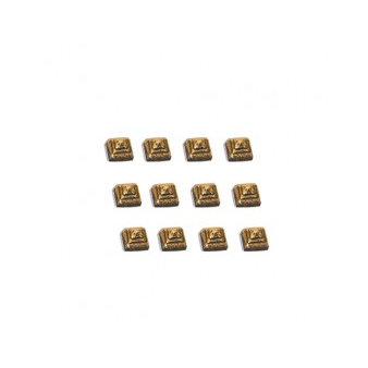 7 Gypsies - Display Trim - Pyramid Studs - Antique Brass