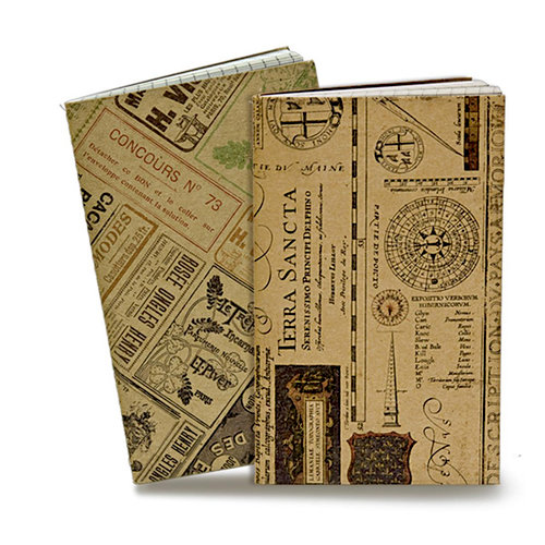 7 Gypsies - Petit Carnet Voyage Collection - Mini Notebook Set - Le Monde and Map Ledger