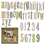 7 Gypsies - Avignon Collection - Chipboard Pieces - Alphabet and Numbers, CLEARANCE