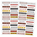 7 Gypsies - 97% Complete - Mini Label Stickers - Travel