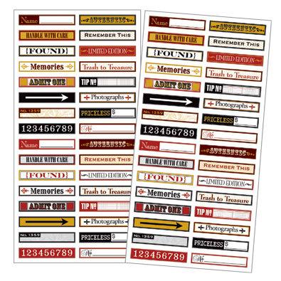 7 Gypsies - 97% Complete - Mini Label Stickers - Flea Market