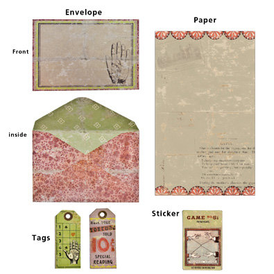 7 Gypsies - Vintage Stationery Set - Gypsy Edition
