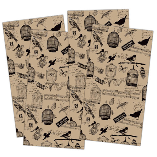 7 Gypsies - Collage Tissue Paper - Birdsong