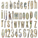 7 Gypsies - Conservatory Collection - Chipboard Pieces - Alphabet and Numbers, CLEARANCE