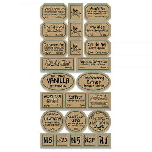7 Gypsies - Apothecary Collection - 97% Complete Label Stickers - Chemistry