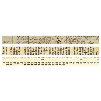 7 Gypsies - Global Collection - Printed Paper Tape - 3 Rolls