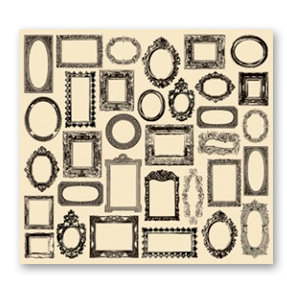 7 Gypsies - Collage Tissue Paper - Frames