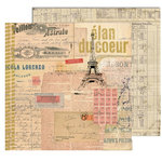 7 Gypsies - Lille Collection - 12 x 12 Double Sided Paper - Coeur