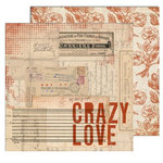 7 Gypsies - Lille Collection - 12 x 12 Double Sided Paper - Crazy Love