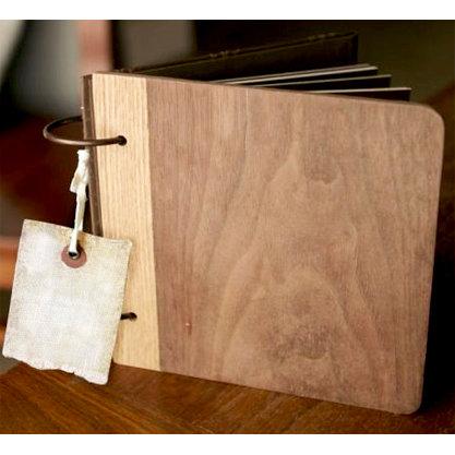The Wood Veneer Album With Canvas Bag