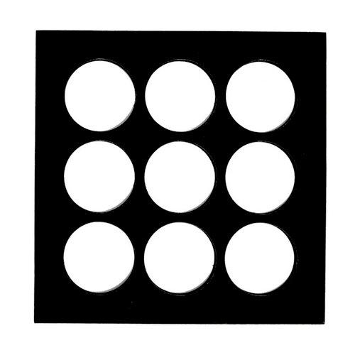 7 Gypsies - Shadow Box Layer - Wood Insert - Round - Black - 8 x 8